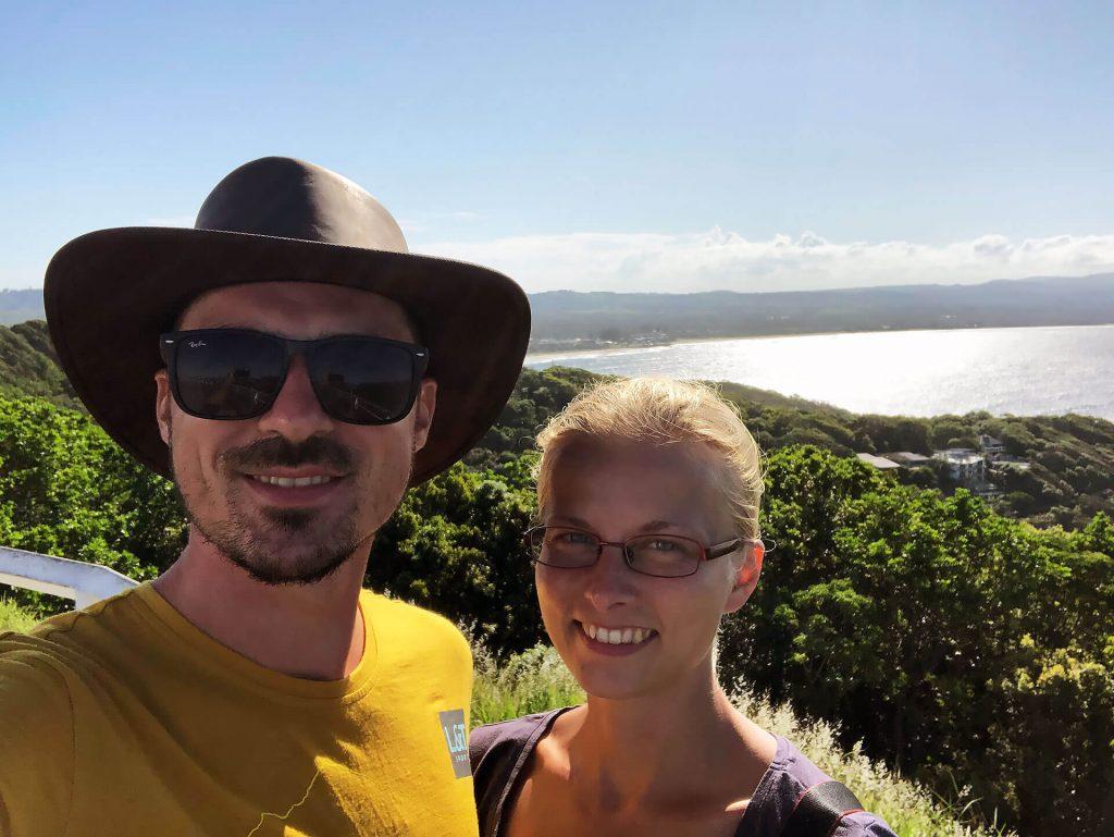 Berti und Taschi in Byron Bay an der Ostküste