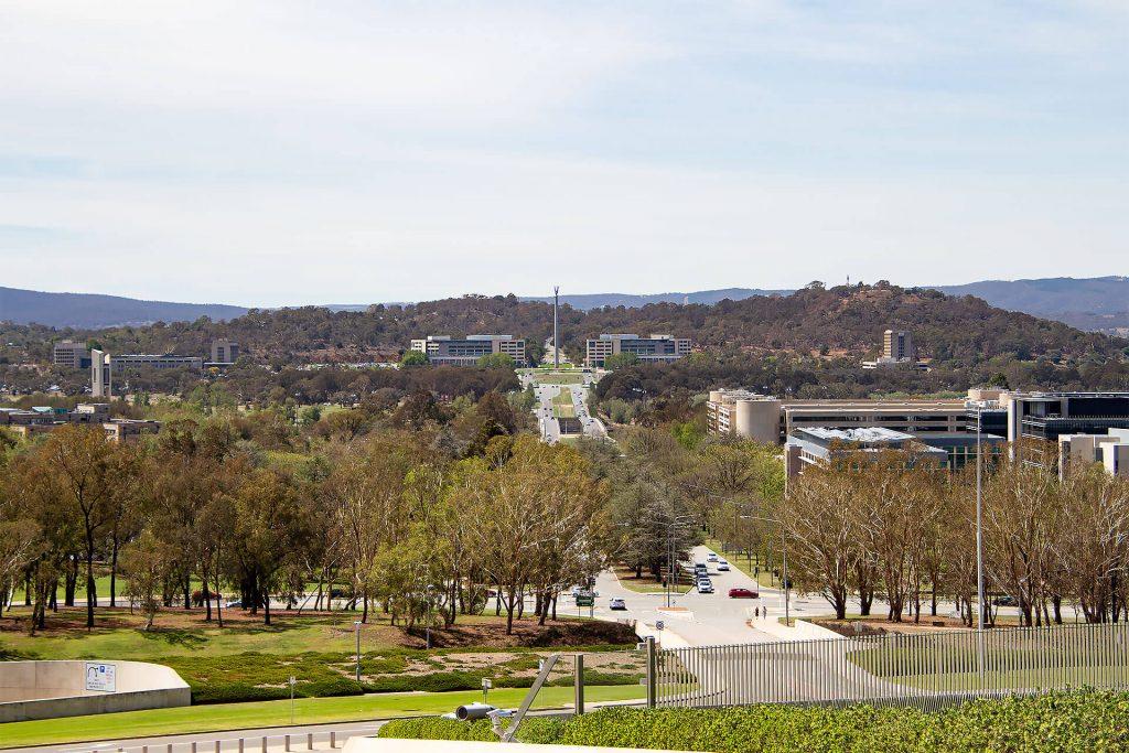 Blick auf Canberra