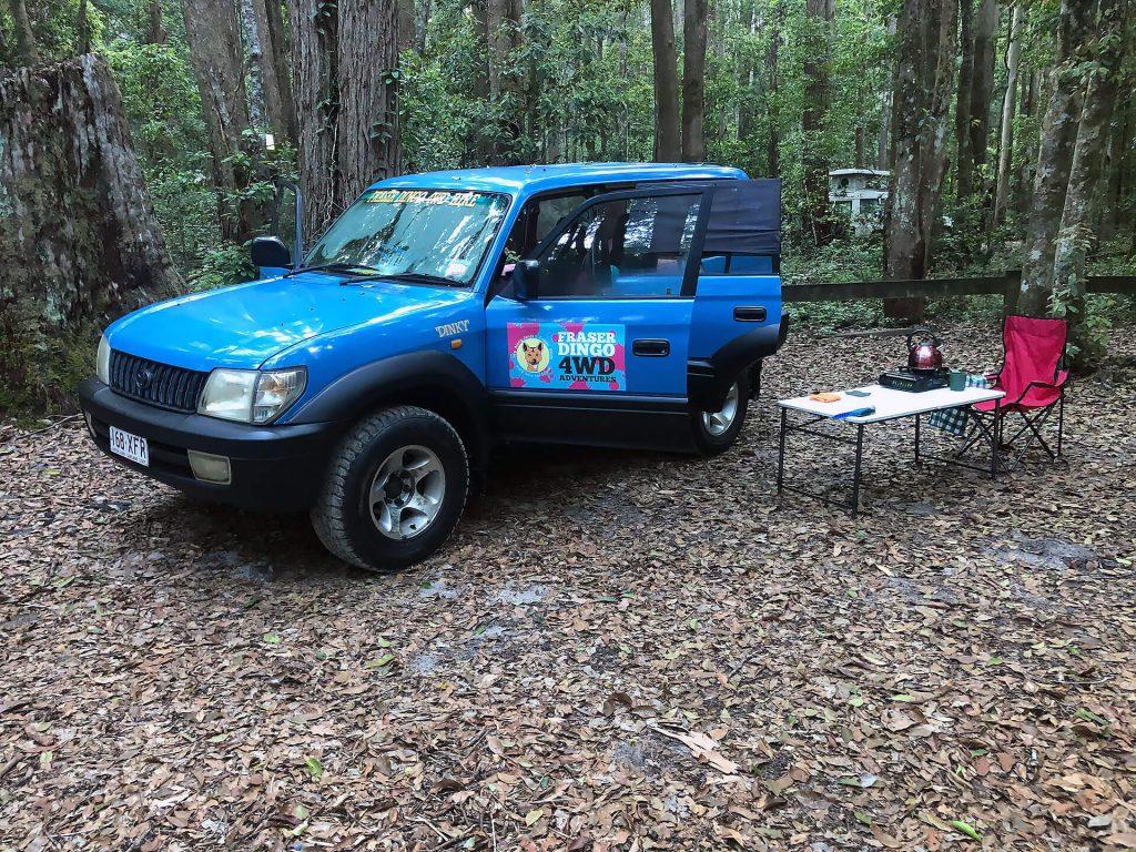 Campingplatz auf Fraser Island