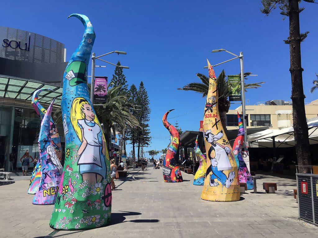 Innenstadt von Surfers Paradise an der Ostküste