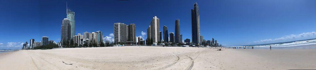 Panorama von der Gold Coast an der Ostküste