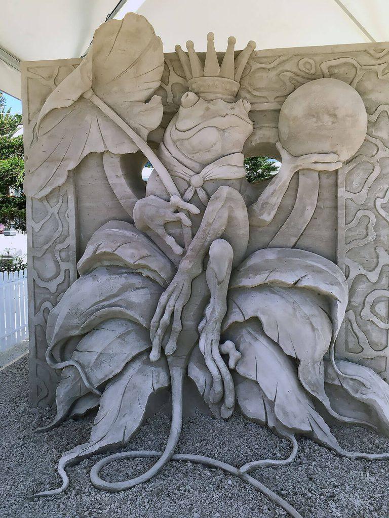 Sandskulptur in Surfers Paradise