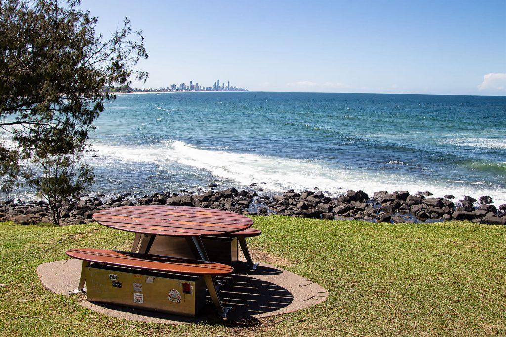 Picknick an der Gold Coast an der Ostküste