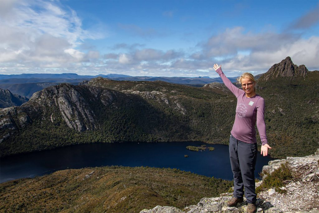 Taschi in Cradle Mountain am Dove Lake