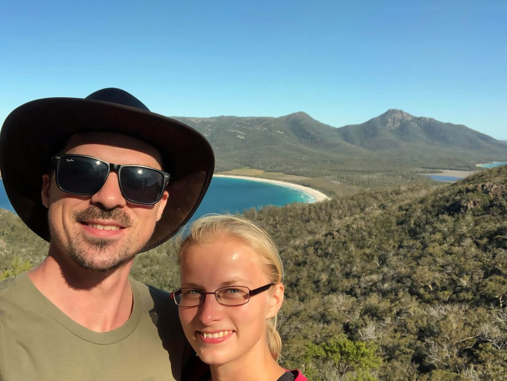 Tasmanien Selfie Wineglass Bay