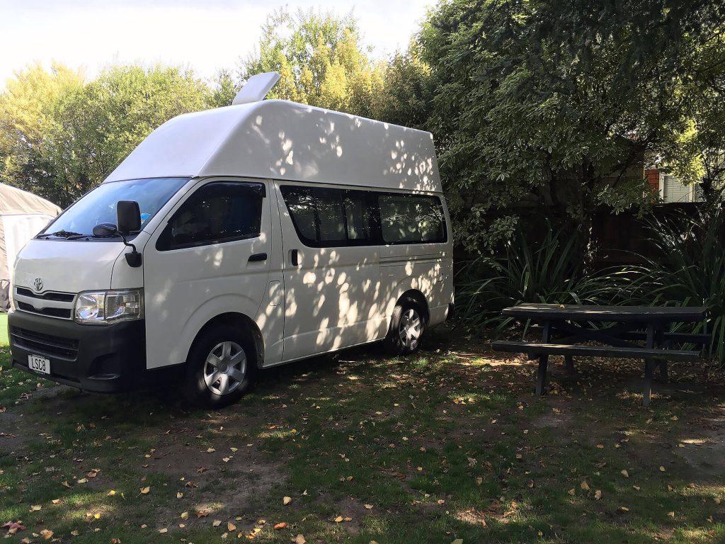 Camper in Christchurch