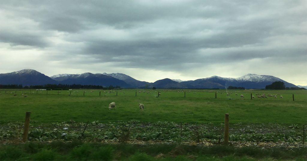 Die Südinsel von Neuseeland